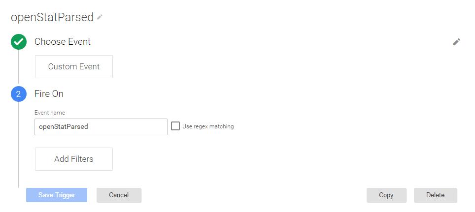 Шаг 5 по установке расширенного кода Google Universal Analytics для расшифровки _openstat через Google Tag Manager (GTM)